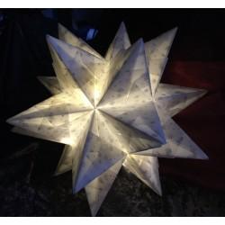 Bascettastern - weiß - 30cm